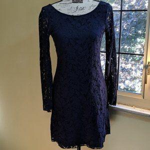 Zara Dress | Long Sleeves | Lace | Blue